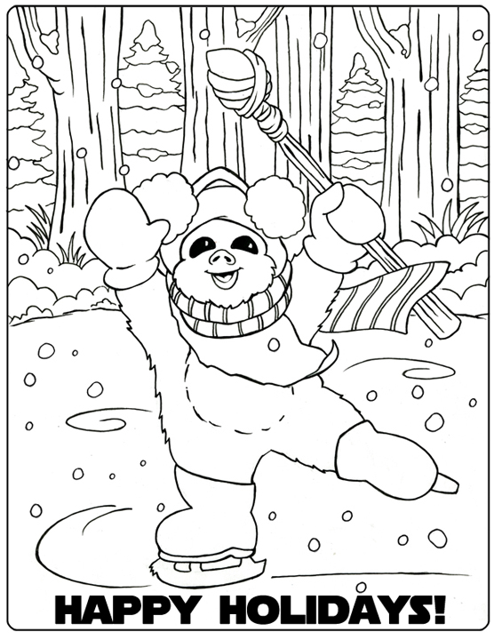 Ewok Village Coloring Page Printable Coloring Pages