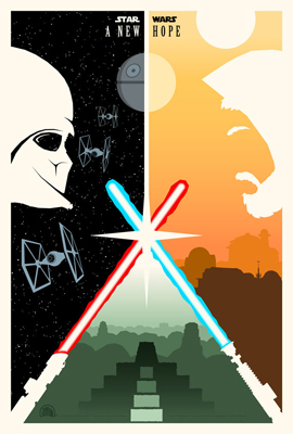 star wars artworks Adam rabalais poster simplistes