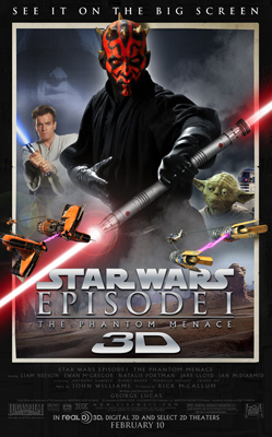 star wars la menace fantome 3d bande annonce