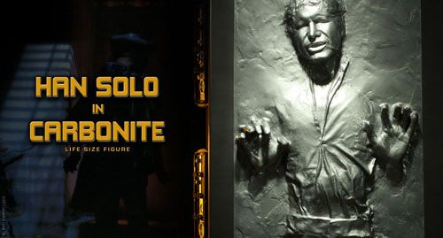 star wars sideshow collectibles han solo carbonite life size statue