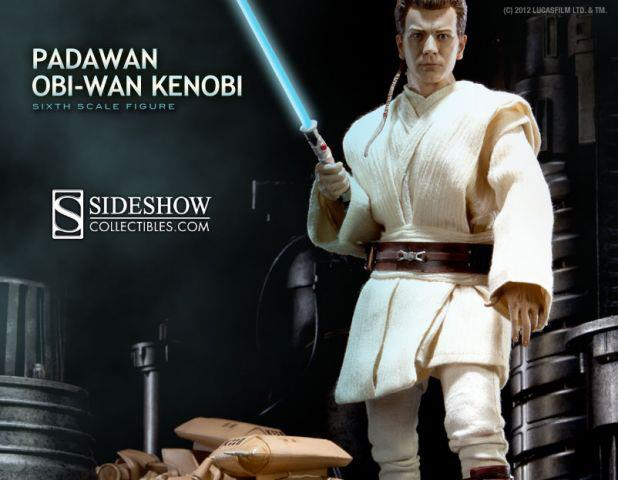 Star Wars Sideshow Collectibles Padawan Obi-Wan Kenobi Sixth Scale Figure