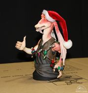 star wars gentle giant holidays mini buste jar-jar santa pere noel