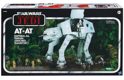 star wars hasbro Big AT-AT Rotj Vintage packaging exclu toy s r us
