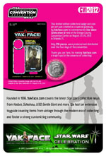 star wars celebration VI yakface.com exclusive cardback and button