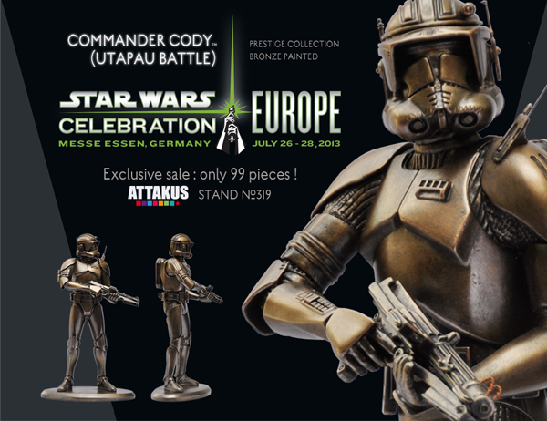 star wars celebration europe II attakus exclusive commander cody bronze edition