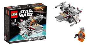 star wars lego microfighter wave 1 x-wing tie clone luke skywalker