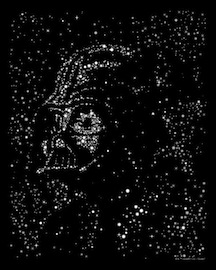 Star Wars Super7 Vader Space Print Preview