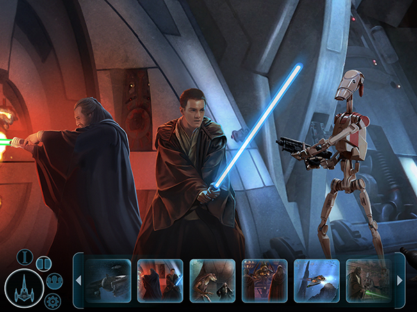 star wars ios application star wars journey graphical video game apple ipad iphone benjamin carré mac