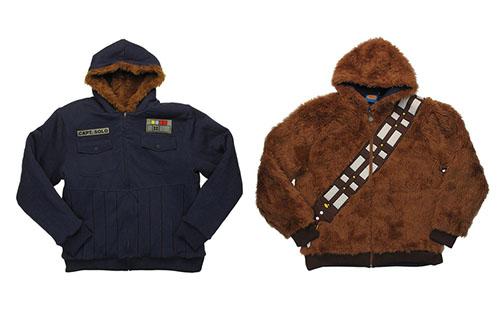 star wars veste vetement mode reversible chewbacca han solo hoth gear blue coat