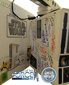 star wars caravan of the force autcion xbox 360 microsoft signed tee shirt