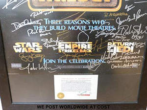 star wars auction ventes aux enchères affiches poster edition special 47 sign george lucas alec guiness harrison ford