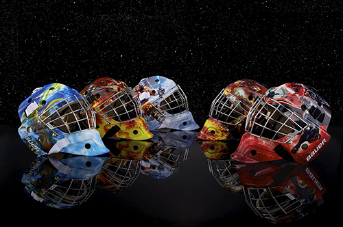 star wars NHL Helmet Hockey Ice Bauer