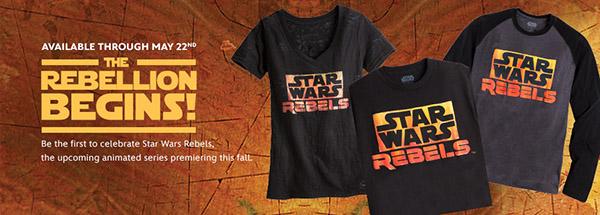 star wars disney marchandise tee shirt rebels disney store