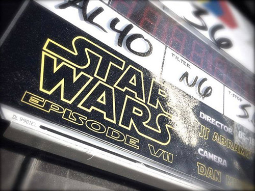 star wars episode VII clap first shoot