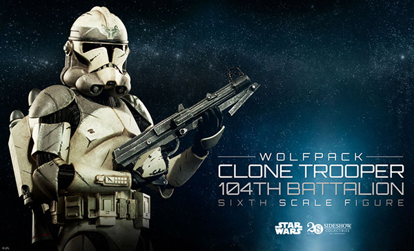 star wars sideshow collectibles Wolfpack Clone Trooper 104th Battalion sixth scale figure
