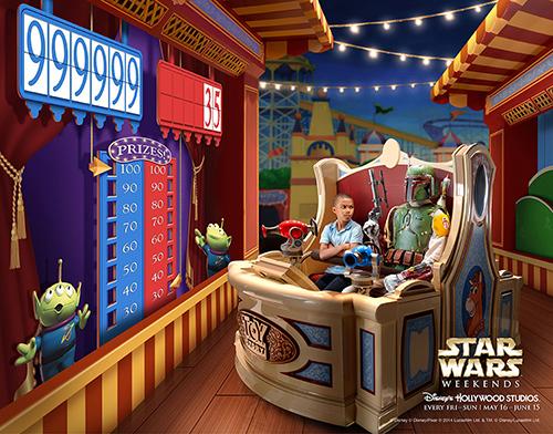 star wars disney disneyland star wars week-end promo affiches poster boba fett chewbacca c-3PO toy storie