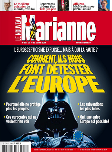star wars marianne journal france dark vador couverture