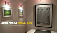 star wars wall art spaceship part maxx replica